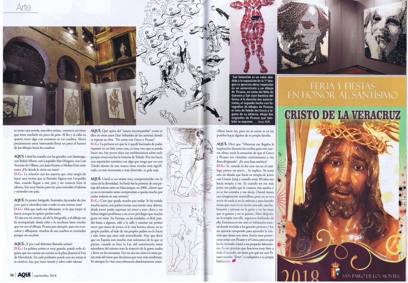 Aqui,Toledo,Entrevista,interview,garbade,en cama,picasso,El Greco,iglesia,San Sebastian, Consorcio,Embajada de suiza,suizo,Mascaraque
