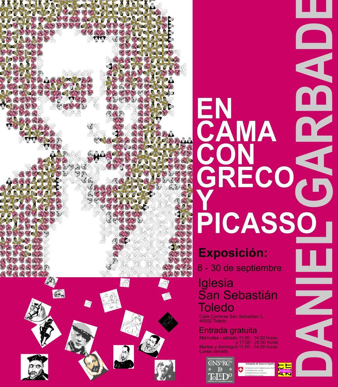 Garbnade, en cama con,Greco,Picasso,Toledo,San Sebastian, Consorcio,Exposición,España,Daniel,Suiza,show,collages,Artzeitmagazine,gratuita